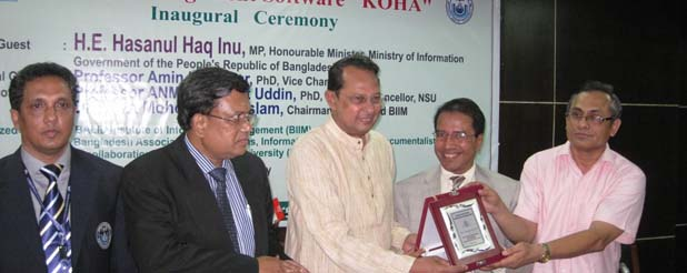 Training on Koha: Honourable Minister, Ministry of Information