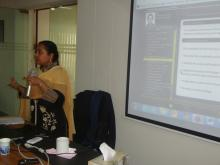 Ms. Momena Khatun, Resource Person of eXe Learning Software Training - 24 January 2015