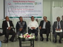 Workshop on Thesaurus held at ULAB Seminar Room on 29 November 2014